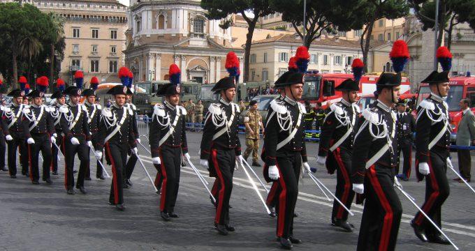 L'ARMA DEI CARABINIERI: forças públicas italianas